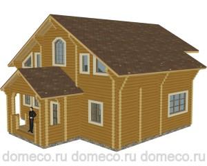эскизы проектов деревянных домов из оцилиндрованного бревна