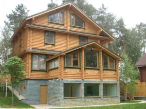 Готовые деревянные дома из оцилиндрованного бревна