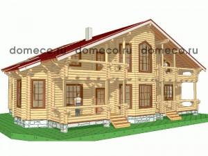 проект дома из оцилиндрованного бревна ДР12