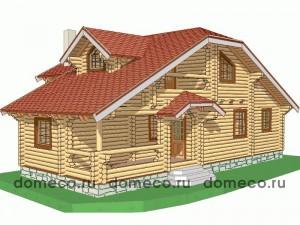 проект дома из оцилиндрованного бревна ДР13
