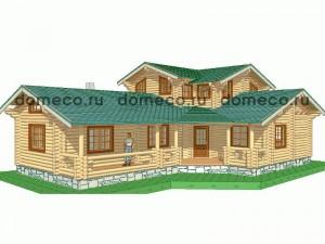 проект дома из оцилиндрованного бревна ДР21