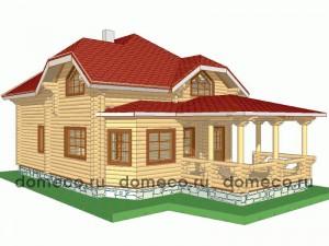 проект дома из оцилиндрованного бревна ДР3