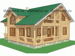 проект дома из оцилиндрованного бревна ДР9