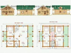 деревянные дома, проект