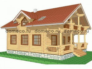 проект дома из оцилиндрованного бревна ДР17
