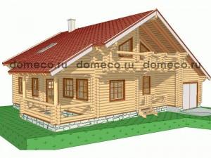 проект дома из оцилиндрованного бревна ДР18