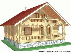 проект дома из оцилиндрованного бревна ДР8