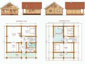 Проект деревянного дома из оцилиндрованного бревна ДР8