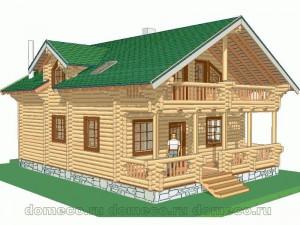 проект дома из оцилиндрованного бревна ДР11