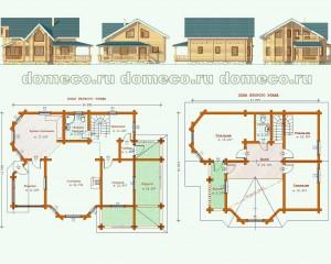 Проект деревянного дома из оцилиндрованного бревна ДР 6