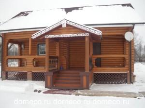 деревянные бани из оцилиндрованного бревна ДомЭко