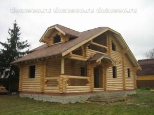 Первый этап строительства сруба дома из оцилиндрованного бревна под ключ