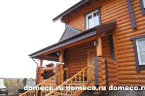 деревянный дом из оцилиндрованного бревна Первомайский 740