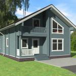 проект деревянного дома из бруса ДБ-101