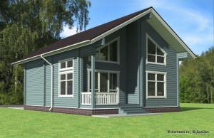 деревянный дом из бруса ДБ-101