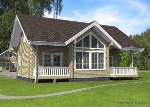 проект деревянного дома из бруса ДБ-102