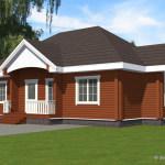 проект деревянного дома из бруса ДБ-103
