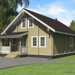 проект деревянного дома из бруса ДБ-104