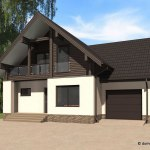 проект деревянного дома из бруса ДБ-105
